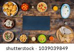 traditional indian dishes on... | Shutterstock . vector #1039039849