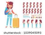 people traveling design.... | Shutterstock .eps vector #1039045093