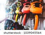 assortment roller skates... | Shutterstock . vector #1039045564