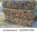 side of ancient brick wall... | Shutterstock . vector #1039047298