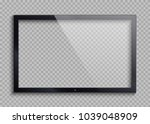 empty tv frame with reflection... | Shutterstock .eps vector #1039048909