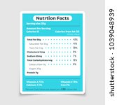 nutrition facts food... | Shutterstock .eps vector #1039048939