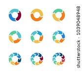circle arrows vector elements...