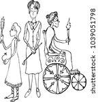 three female generations | Shutterstock .eps vector #1039051798