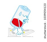 one red sad tired without... | Shutterstock .eps vector #1039054123