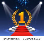 stage podium with lighting ... | Shutterstock .eps vector #1039055119