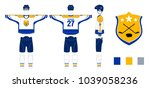hockey uniform   pattern... | Shutterstock .eps vector #1039058236