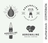 set of vintage boxing and... | Shutterstock .eps vector #1039058656
