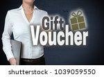 gift voucher touchscreen is...   Shutterstock . vector #1039059550