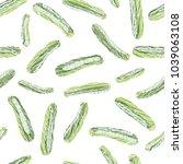 green zucchini. scratched... | Shutterstock .eps vector #1039063108