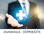 businessman offer positive...   Shutterstock . vector #1039063276