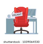 empty office chair with vacant... | Shutterstock .eps vector #1039064530