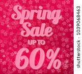 spring sale banner 60  discount ... | Shutterstock .eps vector #1039068463