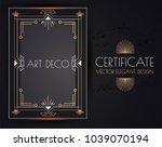 elegant vintage card  flyer ... | Shutterstock .eps vector #1039070194