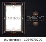 elegant vintage card  flyer ... | Shutterstock .eps vector #1039070200