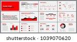 presentation template design.... | Shutterstock .eps vector #1039070620