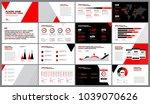presentation template design.... | Shutterstock .eps vector #1039070626