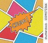comic book speech bubble ... | Shutterstock . vector #1039072366