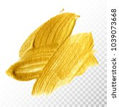 gold hand drawn paint brush... | Shutterstock .eps vector #1039073668