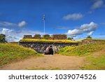 old fort suomenlinna   sveaborg ... | Shutterstock . vector #1039074526