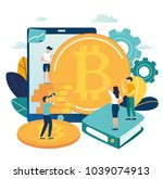 vector illustration finance.... | Shutterstock .eps vector #1039074913