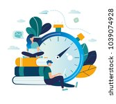 vector color illustration ... | Shutterstock .eps vector #1039074928
