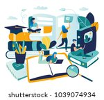 vector graphic elements.... | Shutterstock .eps vector #1039074934