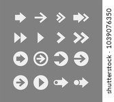 arrows flat vector icons set | Shutterstock .eps vector #1039076350