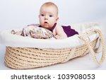 little sweet girl a baby lying... | Shutterstock . vector #103908053
