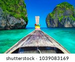 traditional wooden longtail... | Shutterstock . vector #1039083169