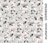 seamless watercolor pattern... | Shutterstock . vector #1039085560