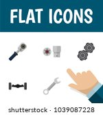 icon flat service set of wrench ... | Shutterstock .eps vector #1039087228