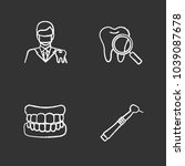 dentistry chalk icons set.... | Shutterstock .eps vector #1039087678