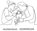 one continuous drawn line of a...   Shutterstock .eps vector #1039090234