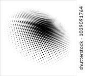halftone pattern vector.... | Shutterstock .eps vector #1039091764