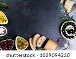 olives  red wine  ciabatta...   Shutterstock . vector #1039094230