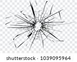 Broken Glass  Cracks  Bullet...