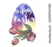 easter illustration with... | Shutterstock .eps vector #1039096780