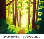 cartoon illustration background ... | Shutterstock .eps vector #1039096813