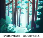 cartoon illustration background ... | Shutterstock .eps vector #1039096816