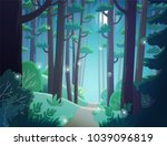 cartoon illustration background ... | Shutterstock .eps vector #1039096819