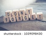 macro of a don't forget... | Shutterstock . vector #1039098430