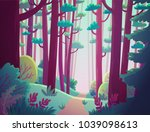 cartoon illustration background ... | Shutterstock .eps vector #1039098613