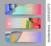 promotion ribbon banner  scroll ... | Shutterstock .eps vector #1039101073