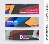 promotion ribbon banner  scroll ... | Shutterstock .eps vector #1039101160