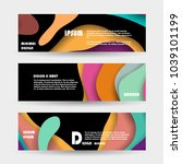 promotion ribbon banner  scroll ... | Shutterstock .eps vector #1039101199
