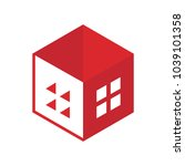 real estate house logo | Shutterstock .eps vector #1039101358