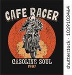 vector skeleton cafe racer... | Shutterstock .eps vector #1039103464