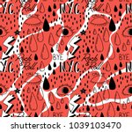 abstract trendy pattern with... | Shutterstock .eps vector #1039103470