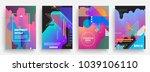 artistic poster templates.... | Shutterstock .eps vector #1039106110